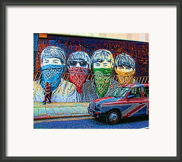 London Street Framed Print By Jasna Buncic