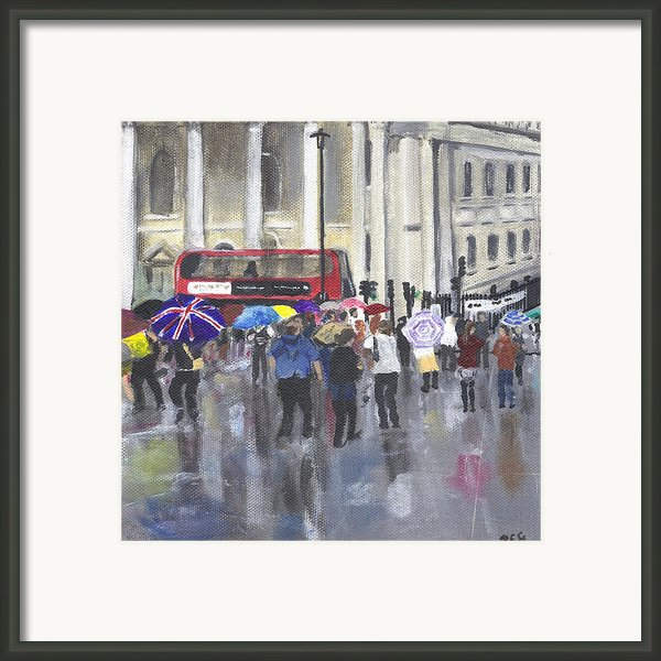 London - Summer 2012-1 Framed Print By Peter Edward Green