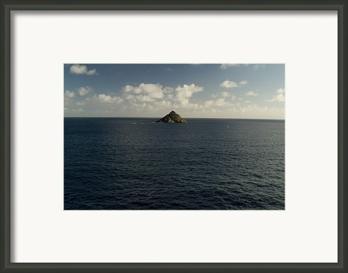 Lone Rock Island In The Middle Of Vast Framed Print By Todd Gipstein