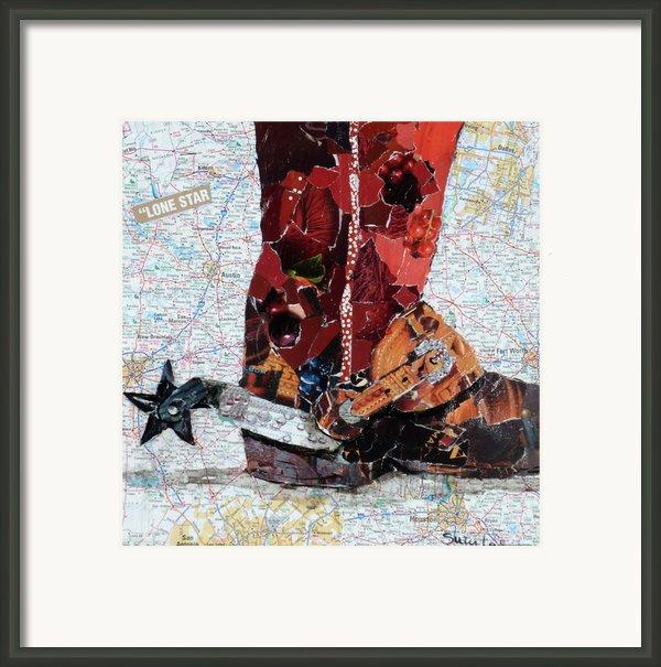 Lone Star Spur Framed Print By Suzy Pal Powell