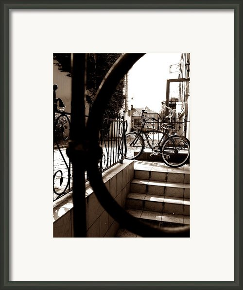 Lonely Bike Framed Print By Birut Ces
