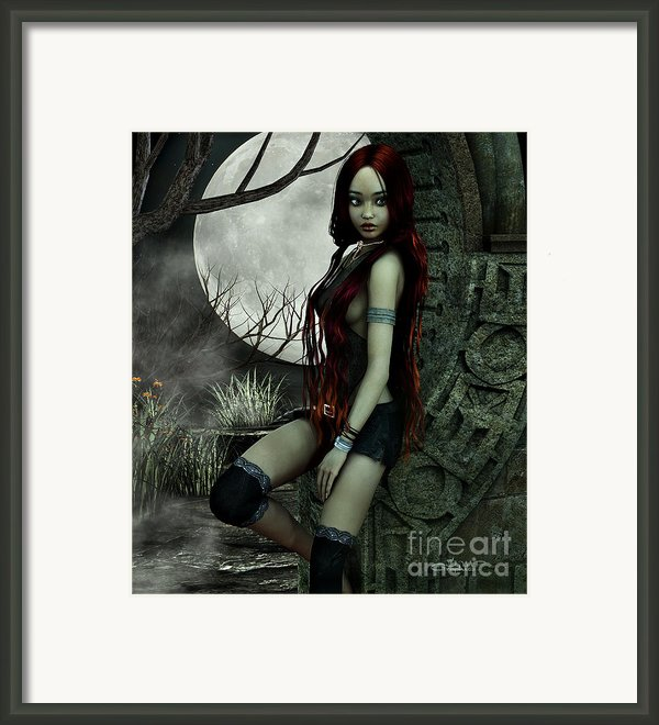 Lonesome Night Framed Print By Jutta Maria Pusl