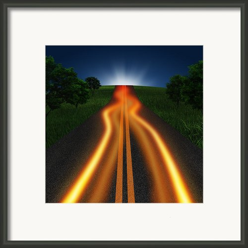 Long Road In Twilight Framed Print By Setsiri Silapasuwanchai