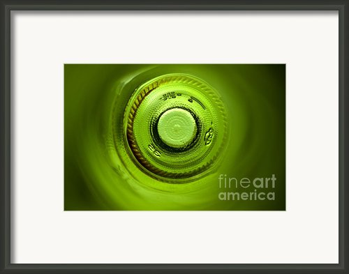 Looking Deep Into The Bottle Framed Print By Frank Tschakert