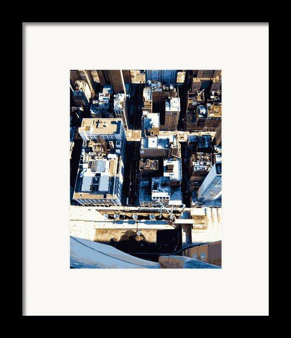 Looking Down Color 16 Framed Print By Scott Kelley