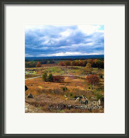 Looking Over The Gettysburg Battlefield Framed Print By Amazing Photographs Aka Christian Wilson