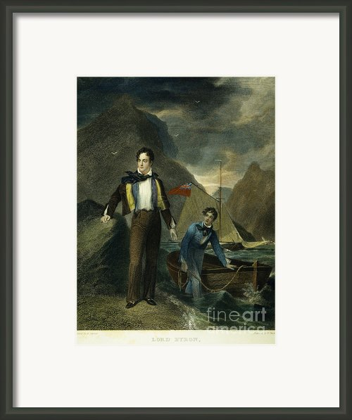 Lord Byron Framed Print By Granger