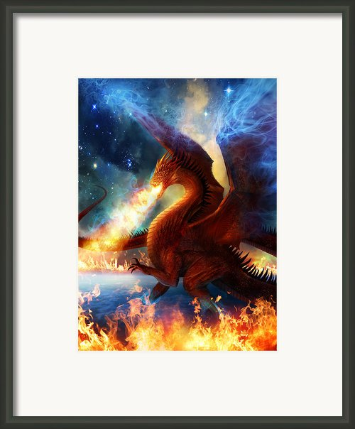 Lord Of The Celestial Dragons Framed Print By Philip Straub