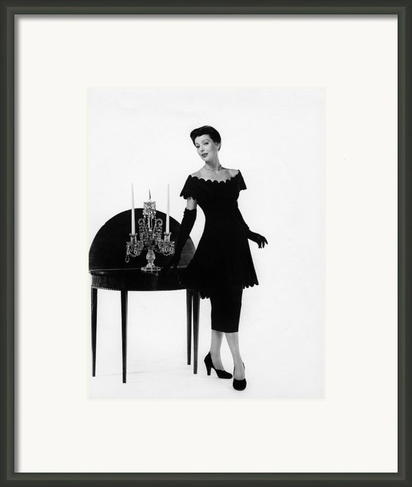 Loretta Young, Ca. Late 1940s Framed Print By Everett