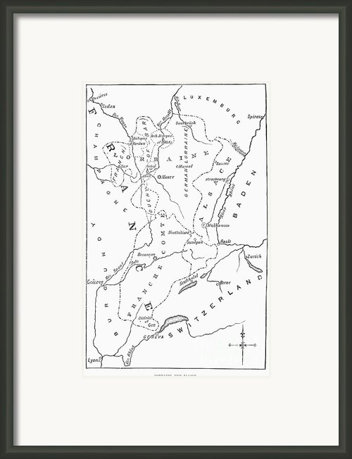Lorraine And Alsace: Map Framed Print By Granger