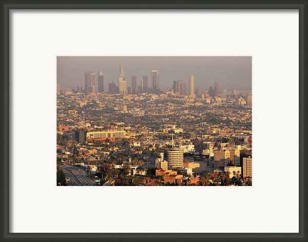 Los Angeles Skyline Framed Print By Photo By Seattle Dredge