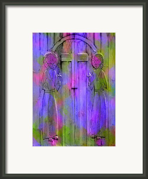 Los Santos Cuates - The Twin Saints Framed Print By Kurt Van Wagner