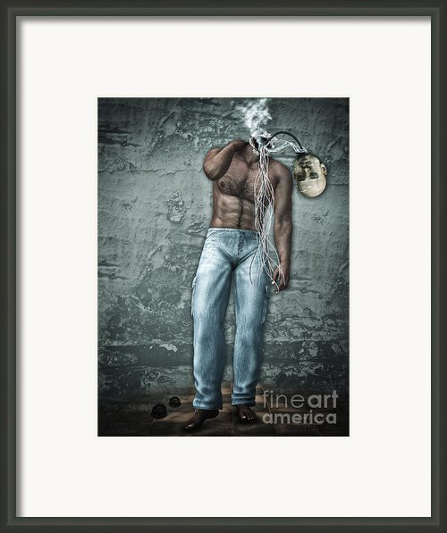 Lost His Mind Framed Print By Jutta Maria Pusl