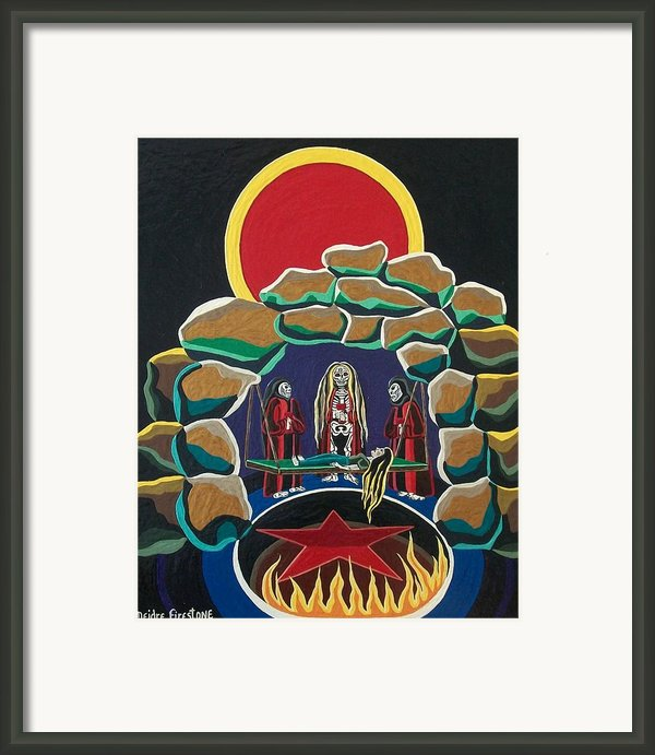 Lost Souls Outside The Spiritual Blood Of The Covenant Framed Print By Deidre Firestone