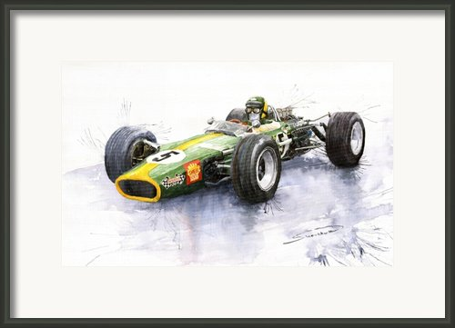 Lotus 49 Ford F1 Jim Clark Framed Print By Yuriy  Shevchuk