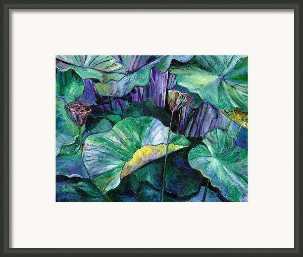Lotus Pond Framed Print By Carol Mangano