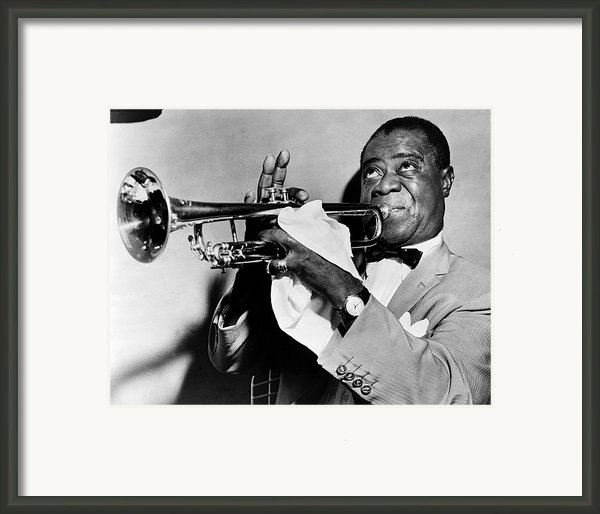 Louis Armstrong 1900-1971 Framed Print By Granger