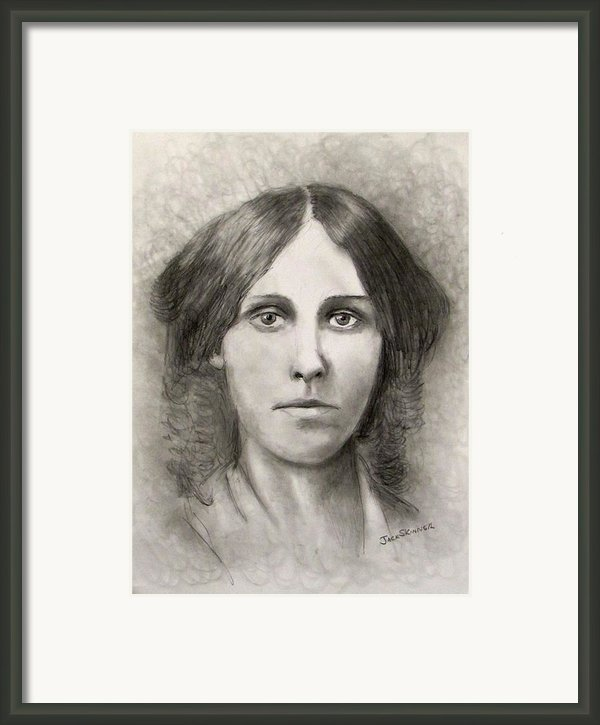 Louisa May Alcott Framed Print By Jack Skinner