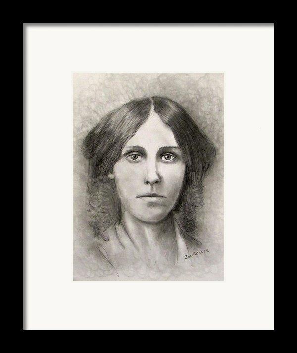 Louisa May Alcott Framed Print By Jack Skinner