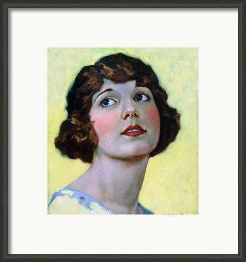 Louise Huff 1920 Framed Print By Stefan Kuhn