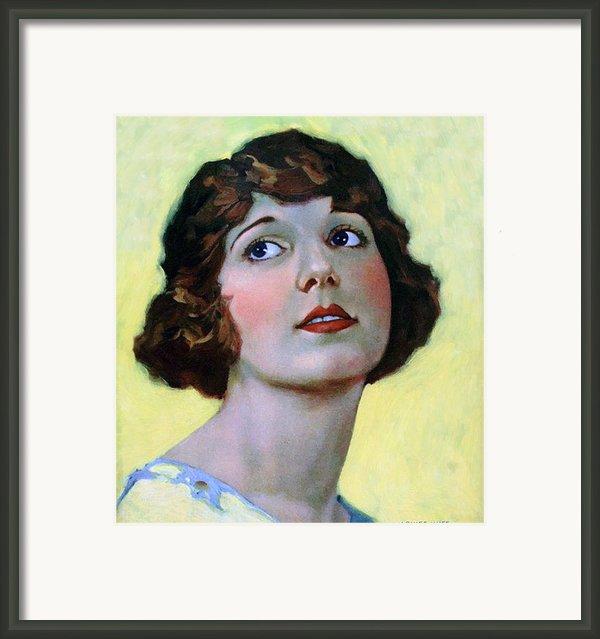 Louise Huff 1920 Framed Print By Stefan Kuhn