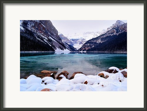 Louise Ice Framed Print By Andrea Hazel Ihlefeld