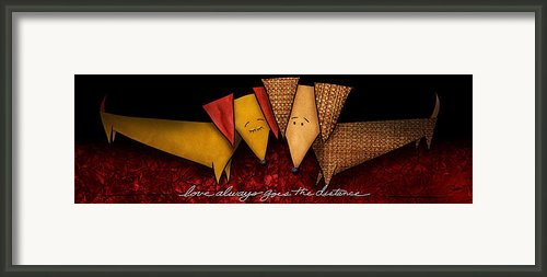 Love Always Goes The Distance Framed Print By Shevon Johnson