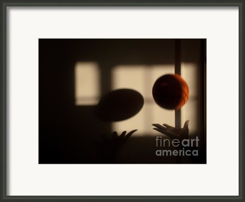 Love And Basketball Framed Print By Valerie Morrison