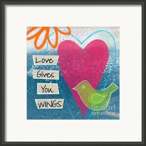Love Gives You Wings Framed Print By Linda Woods