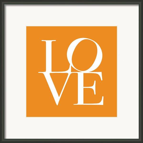Love In Orange Framed Print By Michael Tompsett