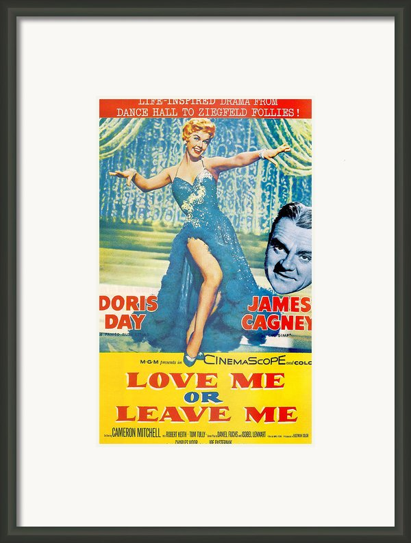 Love Me Or Leave Me Framed Print By Nomad Art And  Design