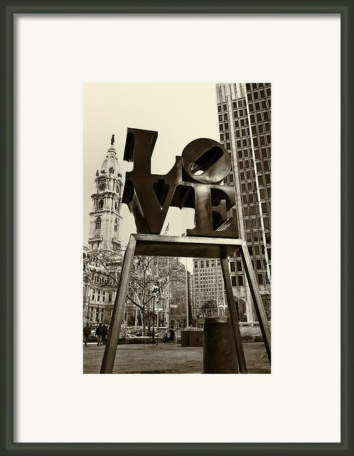 Love Philadelphia Framed Print By Jack Paolini
