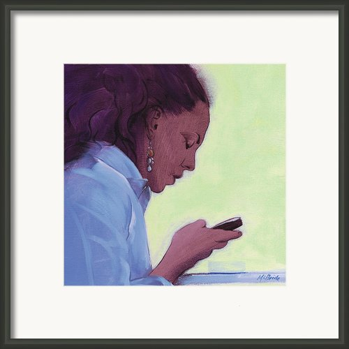 Love Text Framed Print By Neil Mcbride