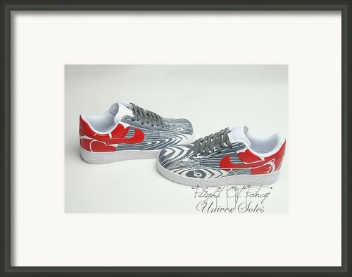 Love Woods Custom Air Force Ones Framed Print By Joseph Boyd