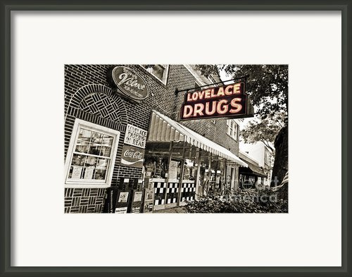 Lovelace Drugs Framed Print By Scott Pellegrin