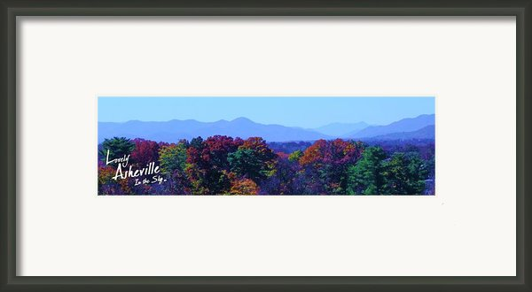 Lovely Asheville Fall Mountains Framed Print By Ray Mapp