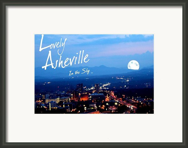 Lovely Asheville Framed Print By Ray Mapp