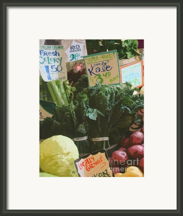 Lovely Kale Framed Print By Lydia L Kramer