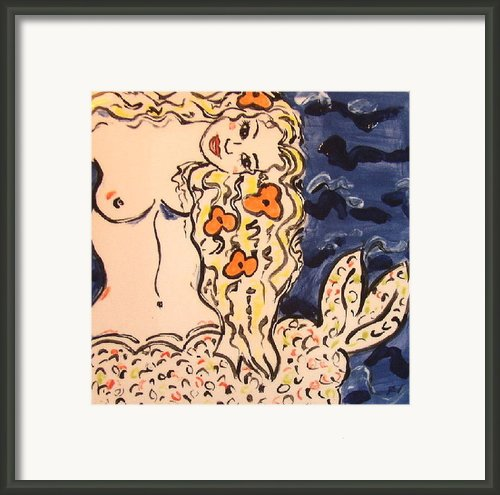 Lovely Mermaid Framed Print By Patricia Lazar