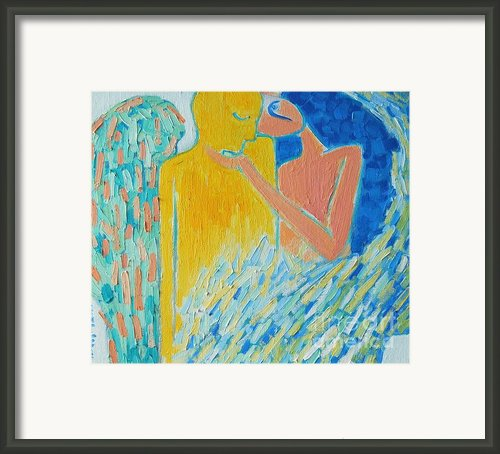 Loving An Angel Framed Print By Ana Maria Edulescu