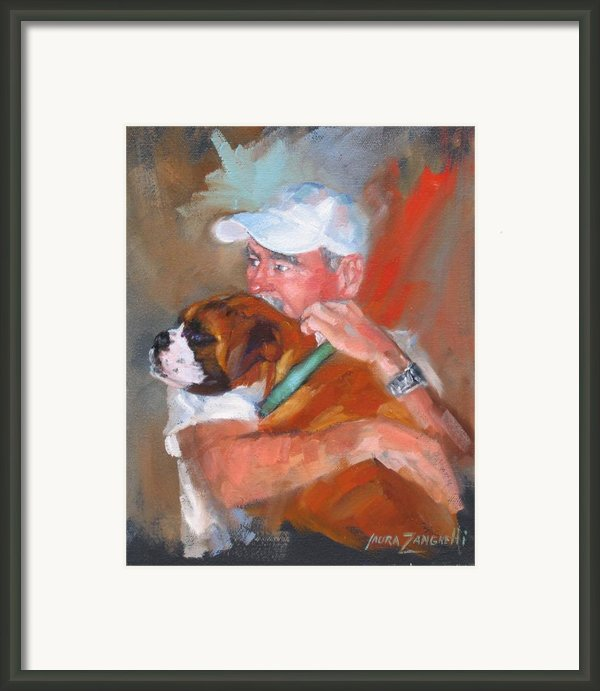Loving Roxie Framed Print By Laura Lee Zanghetti