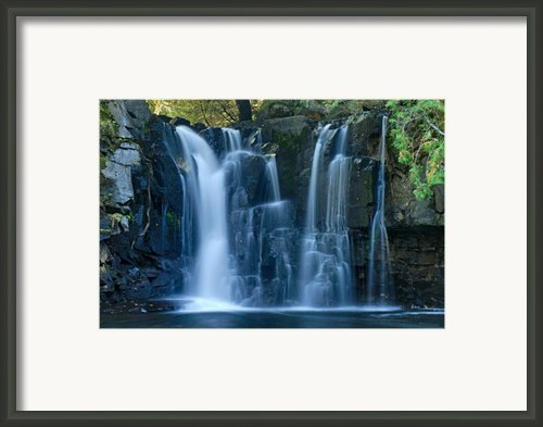 Lower Johnson Falls 2 Framed Print By Larry Ricker