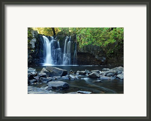 Lower Johnson Falls Framed Print By Larry Ricker
