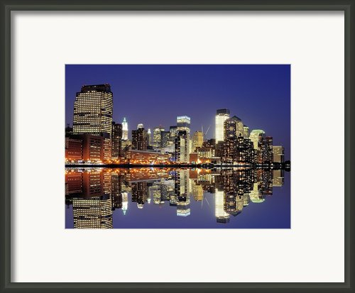 Lower Manhattan Skyline Framed Print By Sean Pavone