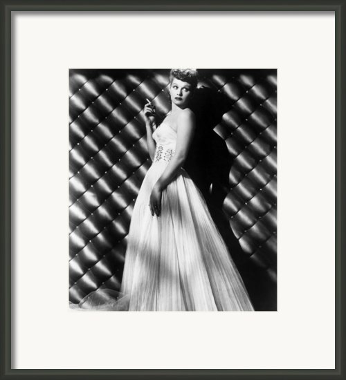 Lucille Ball, Ca. 1950s Framed Print By Everett