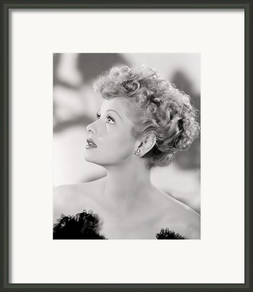 Lucille Ball Portrait, 1940s Framed Print By Everett