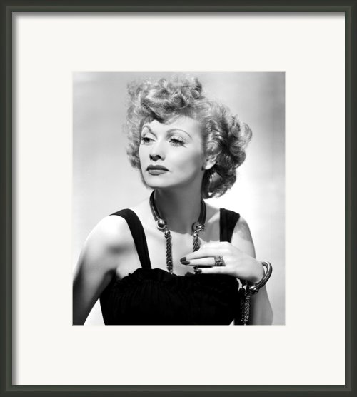 Lucille Ball Publicity Shot, 1940s Framed Print By Everett