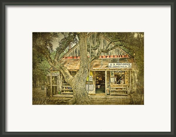 Luckenbach Aged Framed Print By Scott Norris