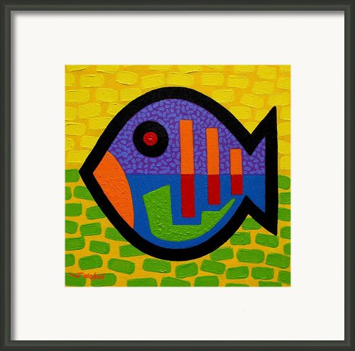 Lucky Fish Ii  Framed Print By John  Nolan