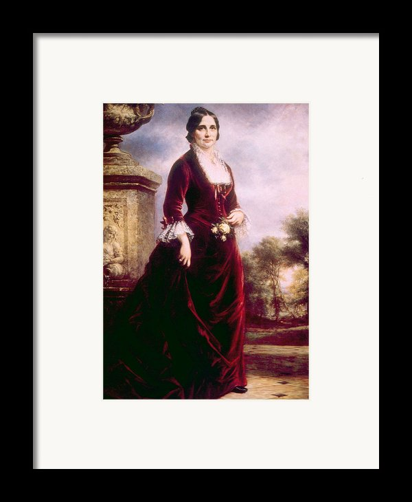 Lucy Ware Webb Hayes 1831-1889, First Framed Print By Everett
